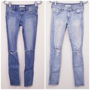 Bundle of 2 Abercrombie Distressed Jeans 28x29